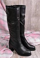Женские сапоги зимние на каблуке 17041