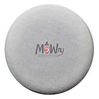 Malva Спонж M-006 для макияжа велюровый круглый (1шт) белый