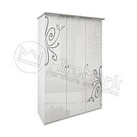 Спальня Богема белый глянец шкаф 3Д без зеркал , фото 1
