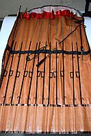 Набор жерлиц BratFishing, 12шт, металлические, на одной ножке