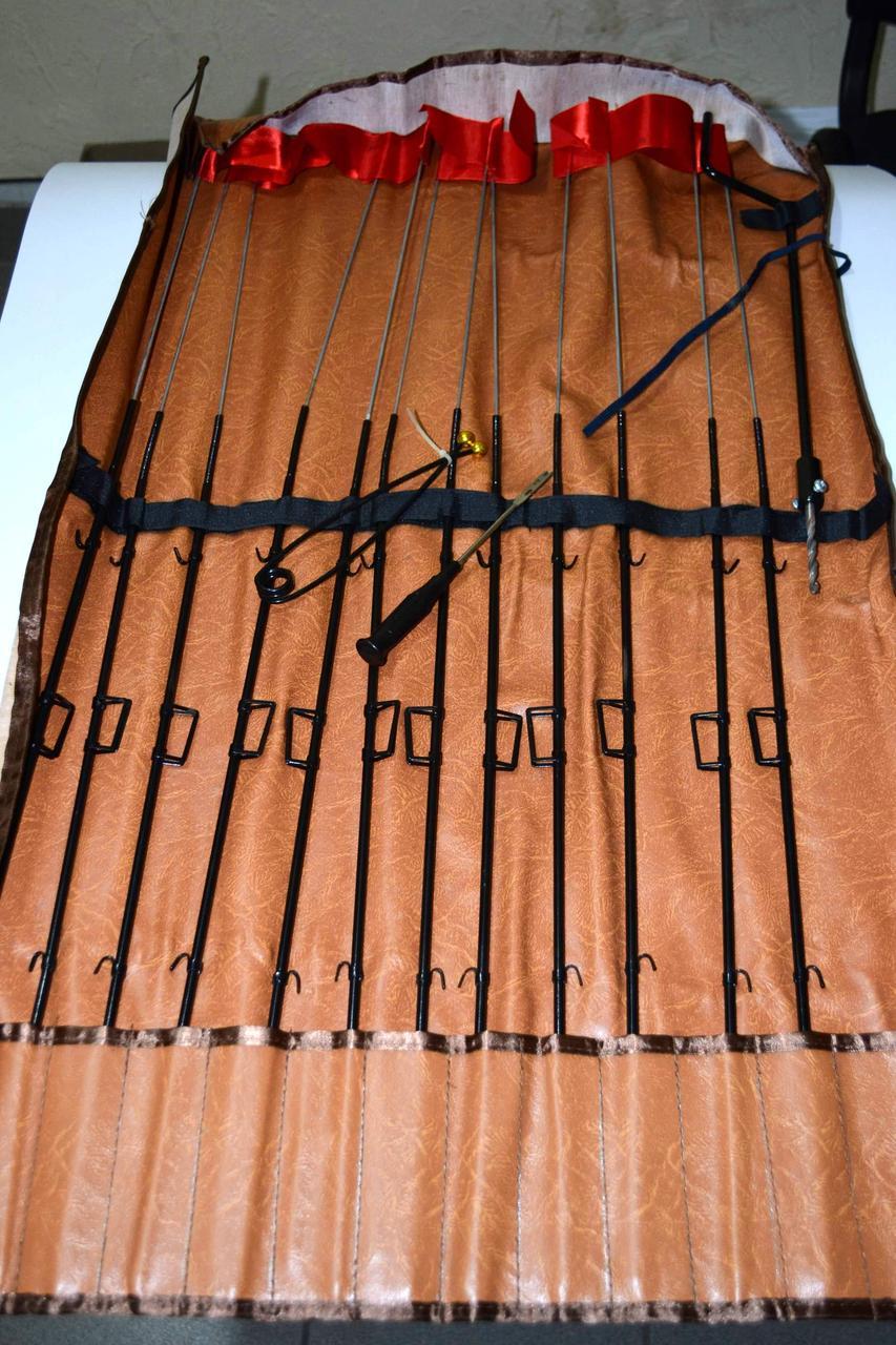 Набор жерлиц BratFishing, 12шт, металлические, на одной ножке - Снасти оптом - купить прикормку оптом, купить поплавки, воблеры, удочки в Одессе