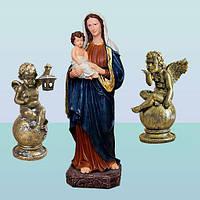 Скульптуры Дева Мария с младенцем и ангелами 2