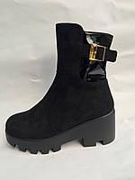 Женские ботинки замшевые опт