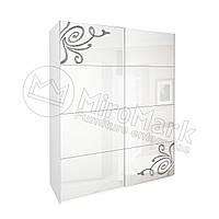 Спальня Богема белый глянец шкаф-купе 2,00м