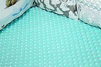 Шикарная тпленькая простынка на резинке. Выполнена из мягчайшего плюшика Минки.