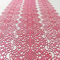 Кружево для торта №1 розовое Украса