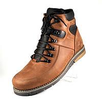 Большой размер. Коричневые зимние мужские ботинки Rosso Avangard. BS Major Payne Street Brown кожаные
