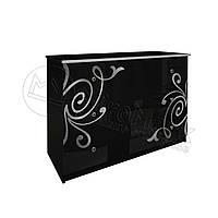 Спальня Богема черный глянец комод 3Ш