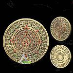 Бронзовая сувенирная монета - Камень Солнца