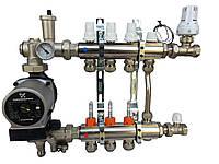 Коллектор для теплого пола ICMA на 4 выхода