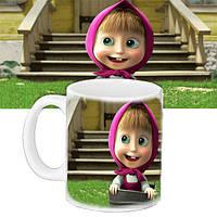 Детская чашка с принтом Мультфильм Маша и Медведь