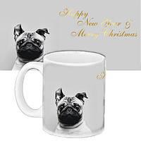 Кружка подарок с принтом С Новым годом Собаки