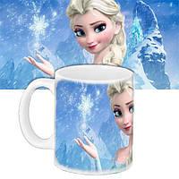 Детская чашка подарок с принтом Эльза
