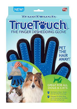 Волшебная щетка Перчатка для чистки животных True Touch, фото 2