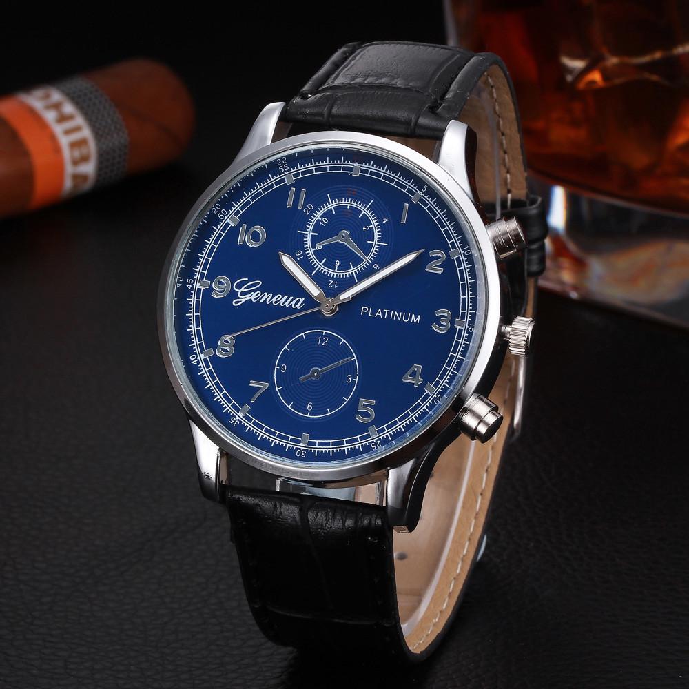 Чоловічі годинники Geneva Platinum black
