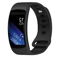 Силиконовый ремешок для фитнес браслета Samsung Gear Fit 2 (SM-R360) - Black