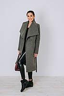 Пальто серое классическоеД 346