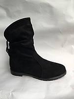 Женские ботинки черны замшевые опт