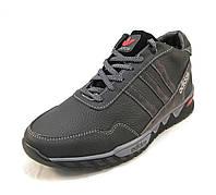 Кроссовки  мужские с мехом Adidas кожаные черные (р.40,41,42,43,44,45)