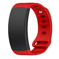 Силиконовый ремешок для фитнес браслета Samsung Gear Fit 2 (SM-R360) - Red