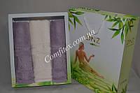 Комплект полотенец DNZ Garden Bamboo - 3шт. (2 лица, баня) - Турция 1925
