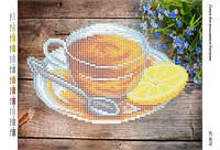 """Схема для вышивки бисером  """"Чай с лимоном"""" размер: 24*19 см"""