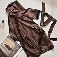 Женский халат с поясом