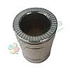 Труба дымоходная сэндвич d 180 мм; 0,5 мм; AISI 304; 25 см; нержавейка/нержавейка - «Версия Люкс», фото 2