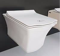 Унитаз в стиле ретро безободковый с крышкой IDEVIT Neo Classic Iderimless плавное закрывание