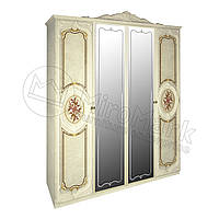 Спальня Реджина радика беж шкаф 4Д с зеркалами , фото 1