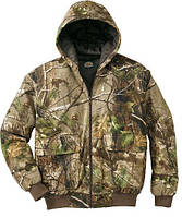 Камуфлированая зимняя куртка микрофибра  лес