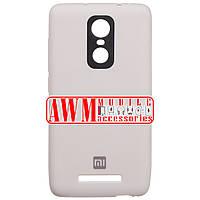 Накладка SILICONE CASE для Xiaomi Redmi Note 3 (серый)
