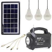 Портативний акумулятор з сонячною панеллю GDLight GD-8057 Bluetooth, FM, MP3, фото 1