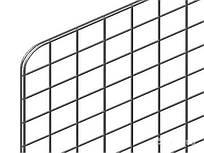 Сетка торговая 1x0.6м (ячейка 5x5см) хром