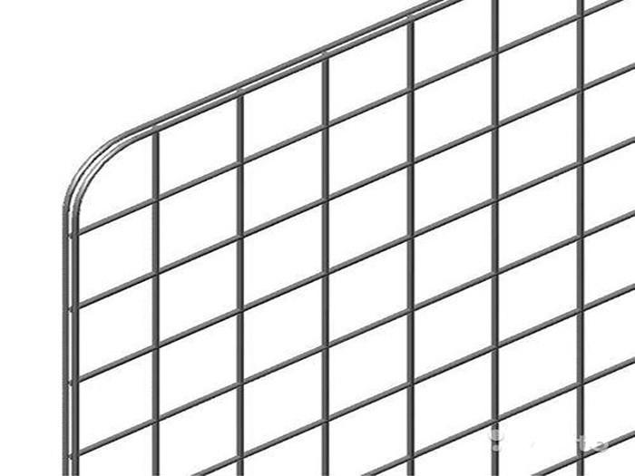 Сетка торговая 1.2x0.6м (ячейка 5x5см) хром