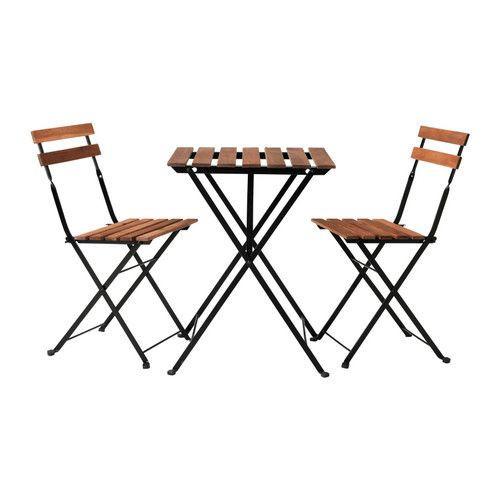 ТЭРНО Стол+2стула,д/сада, черный акация, сталь серо-коричневая морилка