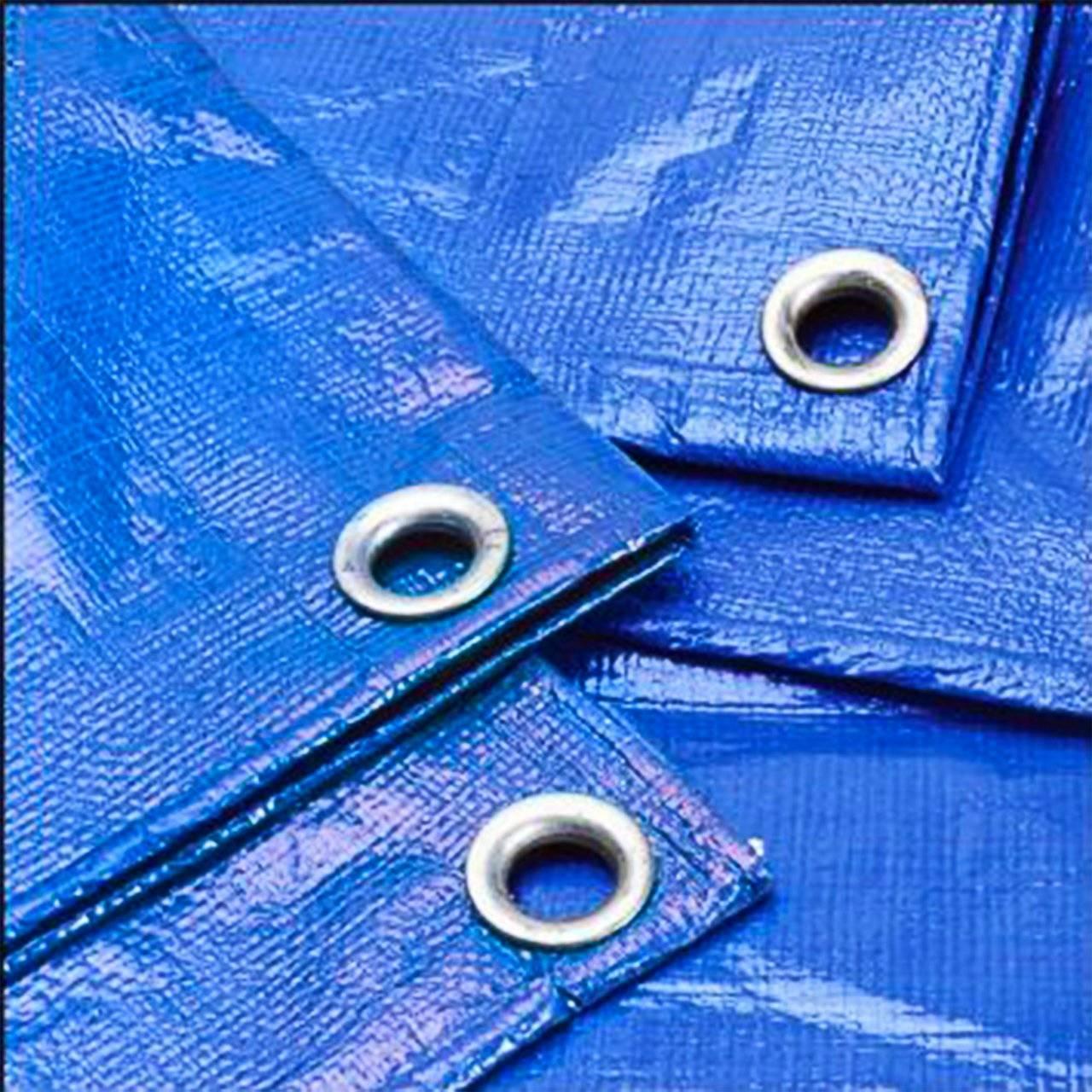 Тент тарпаулин 10x12 (синий) плотность 55гр/м2