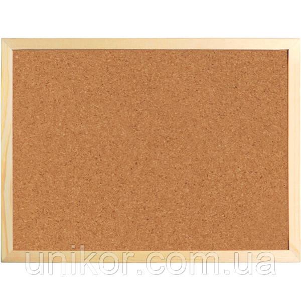 Доска пробковая, 60*90 см., деревянная рамка. AXENT