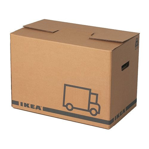 ЭТЭНЕ Упаковочная коробка, коричневый