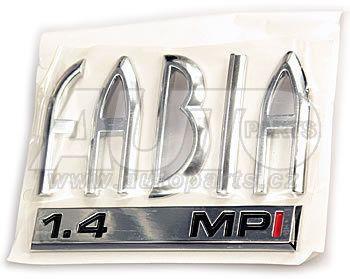 Надпись  SKODA  ''FABIA 1.4 MPI''