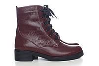 Зимние кожаные ботинки женские, из натуральной кожи, натуральная кожа