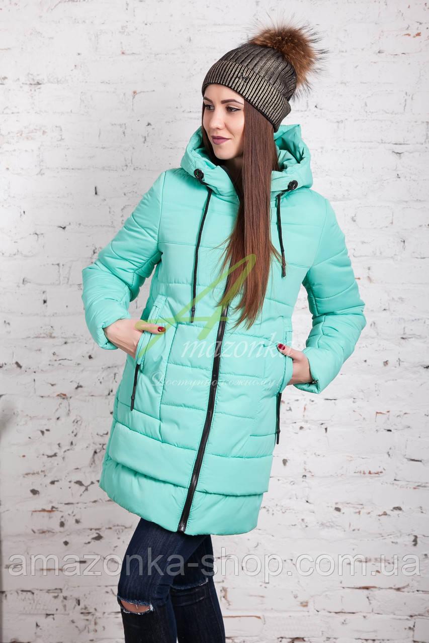 Зимняя женская куртка 2017-2018 оптом - (модель кт-162)