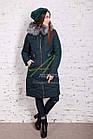 Модное женское пальто новинка сезона зима 2017-2018 - (модель кт-15), фото 9