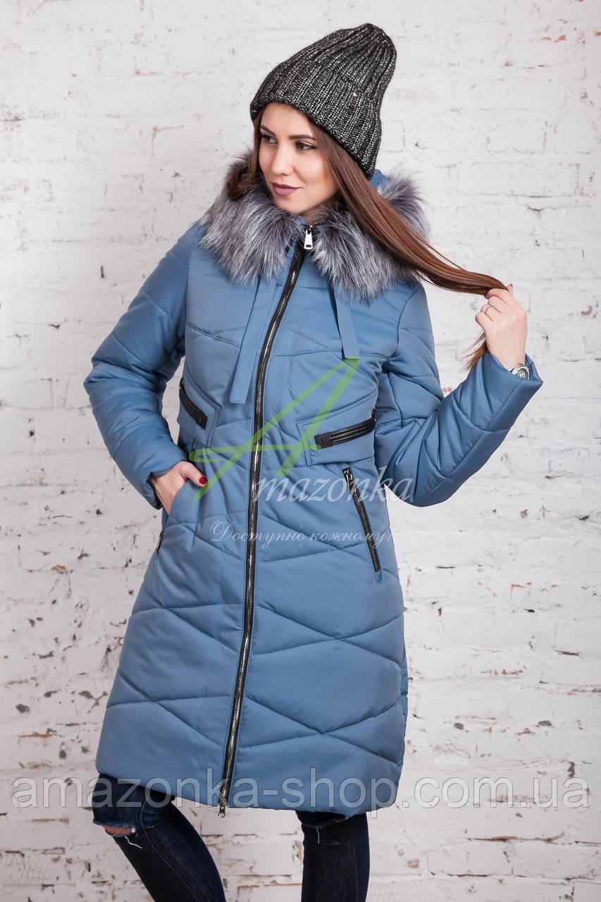 Модное женское пальто новинка сезона зима 2017-2018 - (модель кт-15)