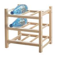 ХУТТЕН Подставка для 9 бутылок, массив дерева