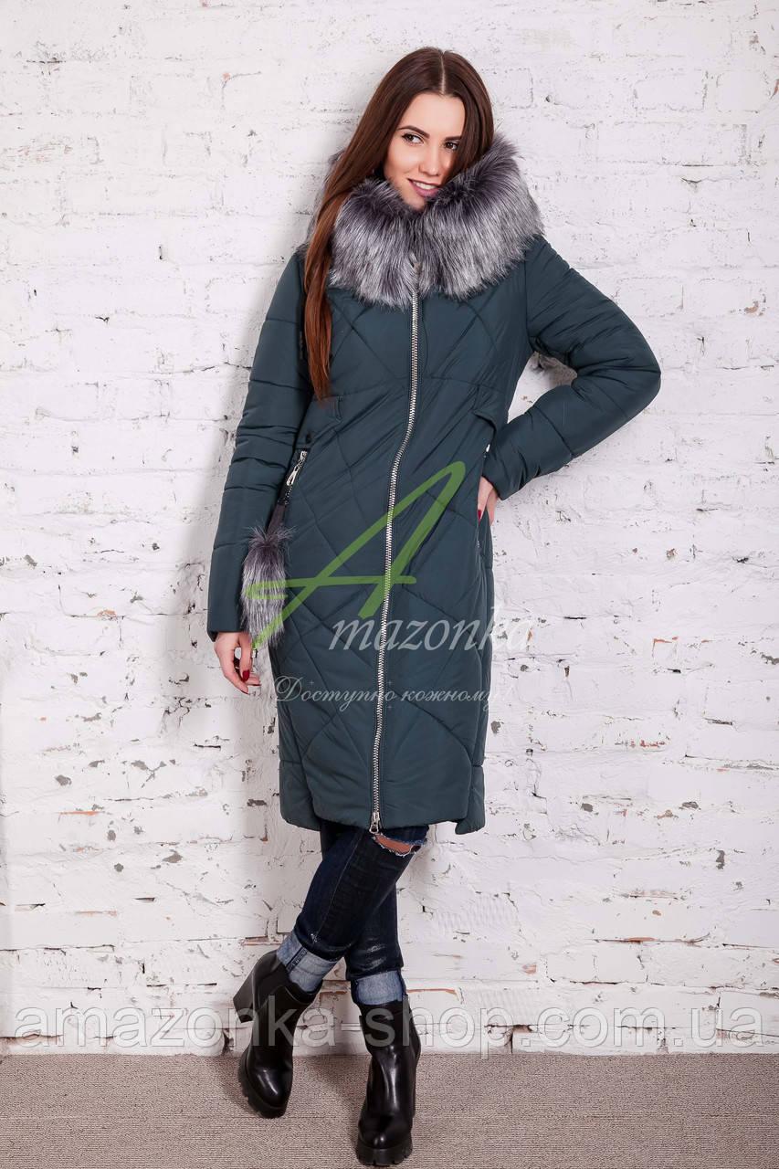 Длинное женское пальто сезона зима 2017-2018 - (модель кт-197)