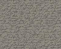 Обои с надписями и буквами, темно-серые 984432.