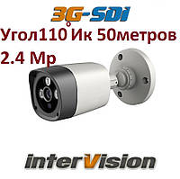 "Видеокамера 2.4Мр 3G-SDI-2400WIDE interVision 1080P ""рыбий глаз"" угол обзора 110°"