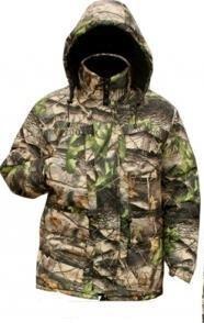 Камуфлированая зимняя куртка микрофибра осенний лес