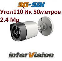 "Уличная видеокамера 2.4-мегапикселя 3G-SDI-2400WIDE interVision 1080P ""рыбий глаз"" угол обзора 110°"